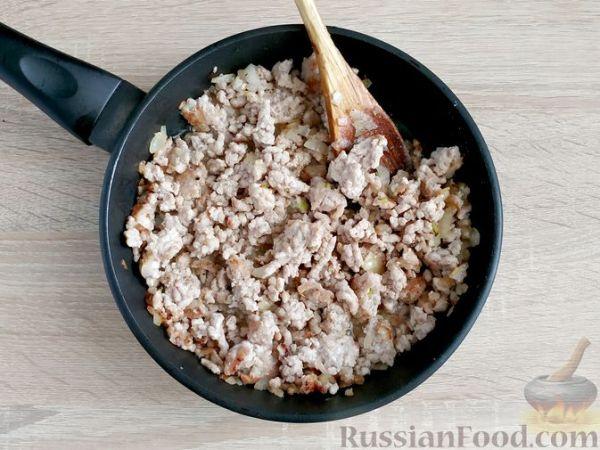 Рецепт: Лазанья из лаваша с фаршем и грибами на ...
