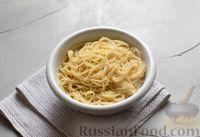 Рецепт: Спагетти с мясом кролика и овощами на RussianFood.com