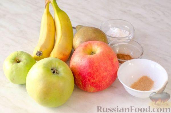 Рецепт: Фруктовые чипсы из яблок, груш и бананов на ...