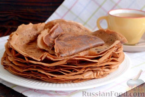 Шоколадные блины на сыворотке | Рецепты на завтрак, обед и ...