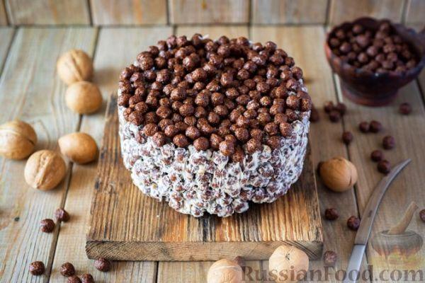 Рецепт: Торт из сухого завтрака со сгущёнкой и орехами ...