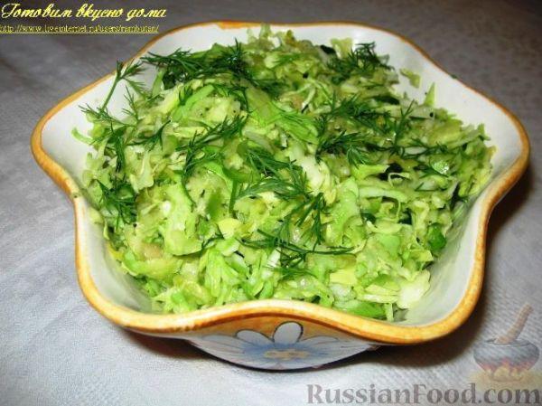 Рецепт: Салат из капусты с яблоком и авокадо на ...