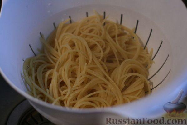Рецепт: Спагетти с птицей и овощами на RussianFood.com