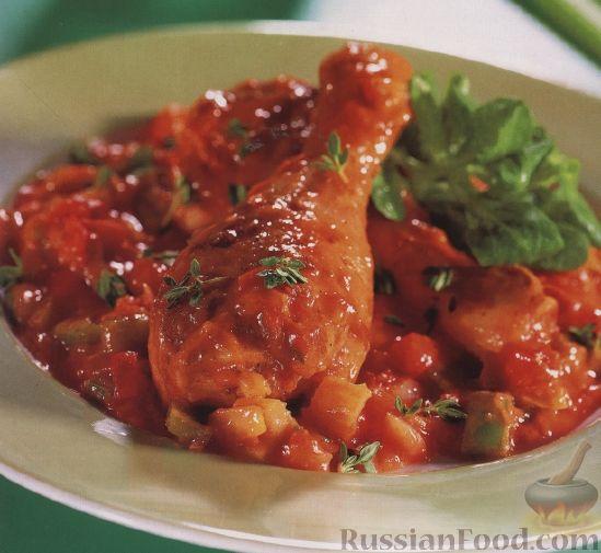 Рецепт Куриные голени жареные в томатном