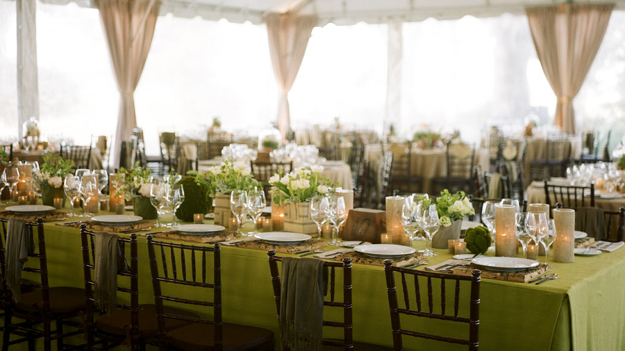 Christmas Party Ideas to Steal from Winter Weddings   Southern Living Christmas green party decor