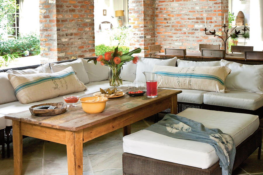 Outdoor Living Room - Classic Southern Home - Southern Living on Southern Outdoor Living id=21034