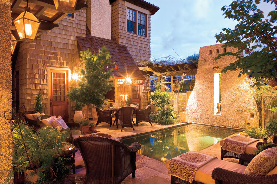 Courtyard Pool - Sparkling Pools - Southern Living on Southern Pools And Outdoor Living id=41015