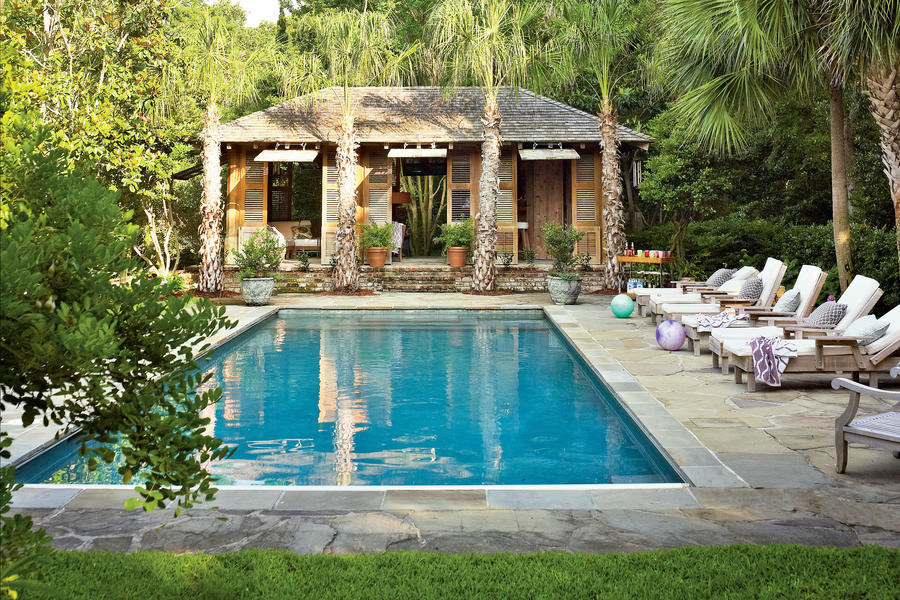 Exotic Tropical Style Pool - Sparkling Pools - Southern Living on Southern Pools And Outdoor Living id=50967