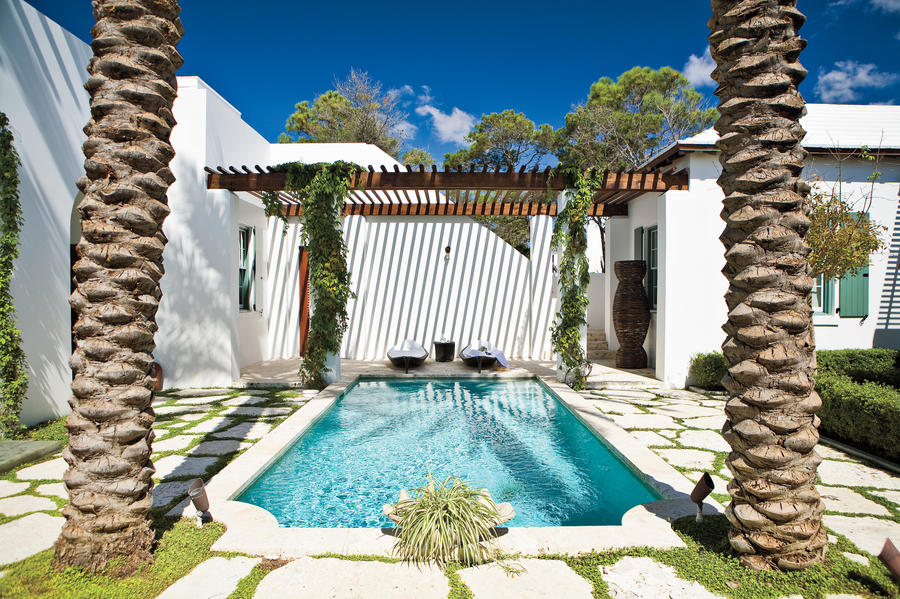 Blissful Pool - Beach Decorating Ideas: Outdoor Spaces ... on Southern Pools And Outdoor Living  id=91955