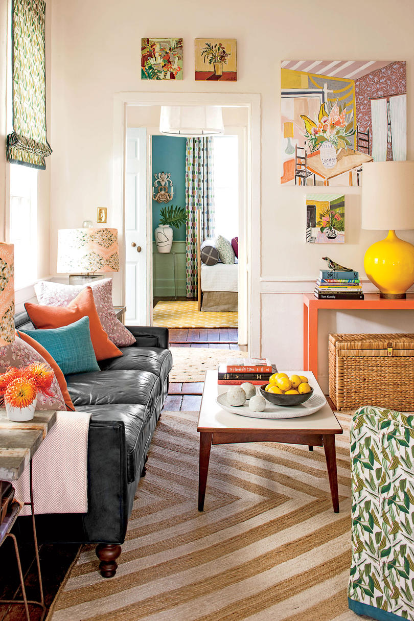 10 Colorful Ideas for Small House Design - Southern Living on Small Living Room Decorating Ideas  id=18460