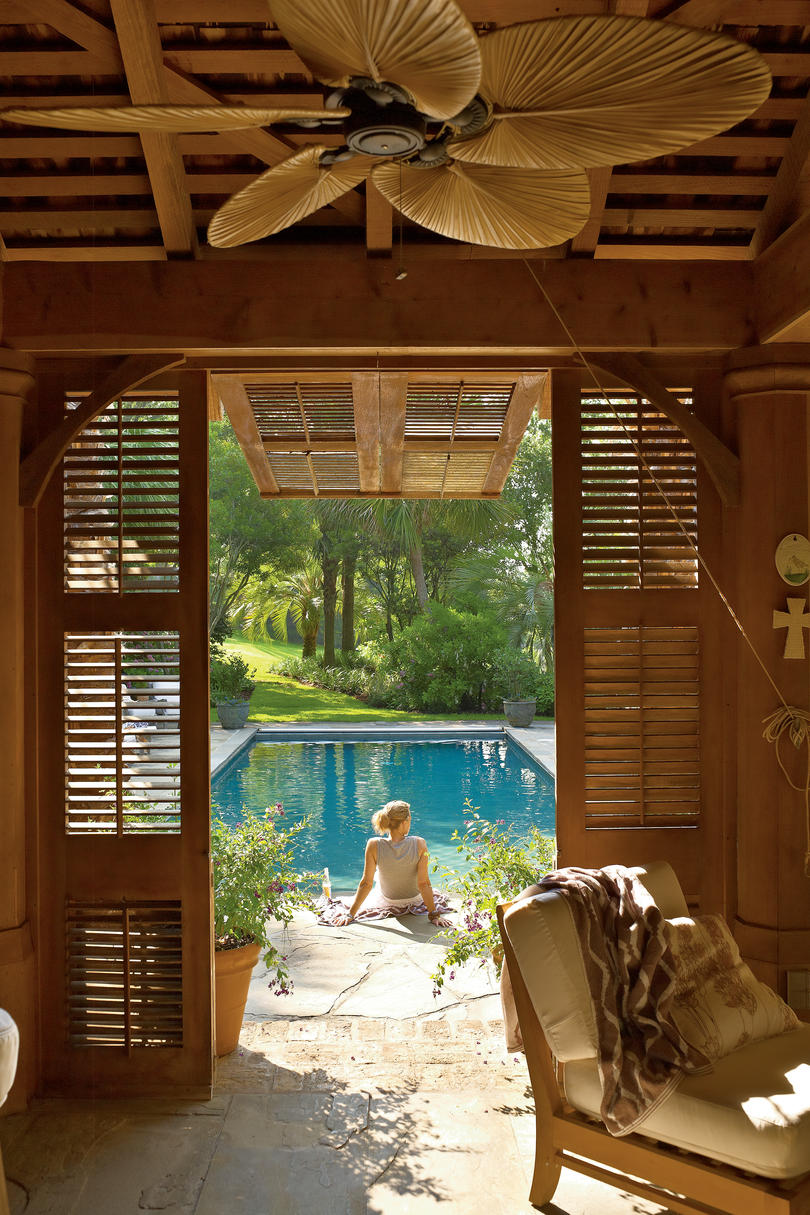 Tropical Style Pool House - Southern Living on Southern Pools And Outdoor Living id=39020