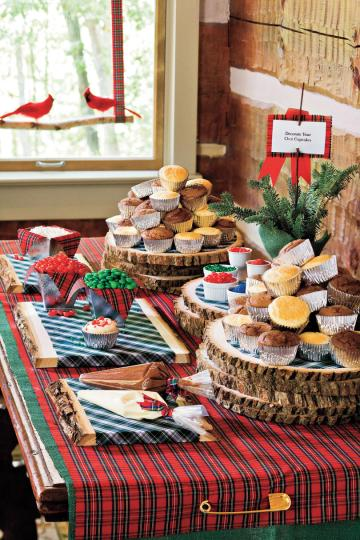 100 Fresh Christmas Decorating Ideas   Southern Living Decorate Your Own Cupcake Station