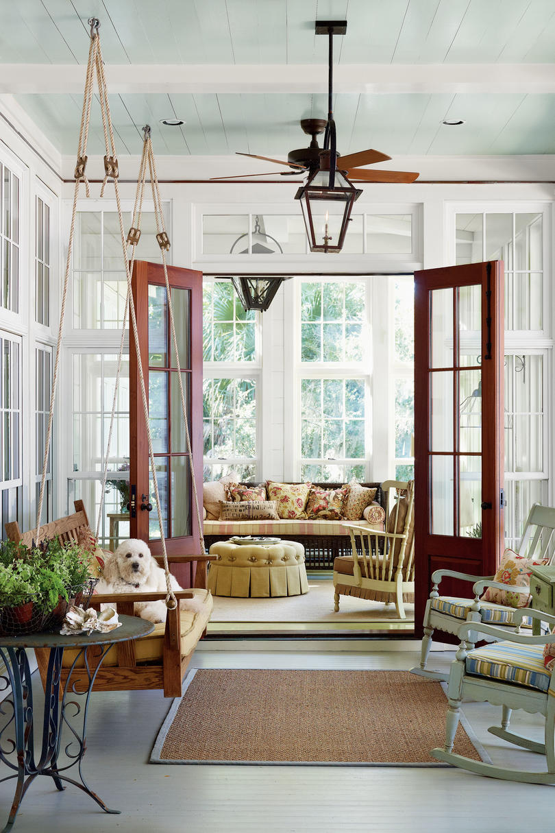 Porch and Patio Design Inspiration - Southern Living on Small Enclosed Patio Ideas id=60196