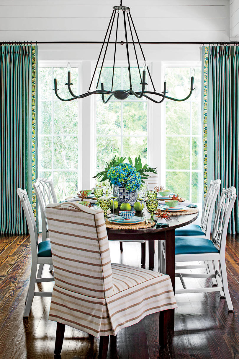 Stylish Dining Room Decorating Ideas - Southern Living on Dining Room Curtains Ideas  id=36288