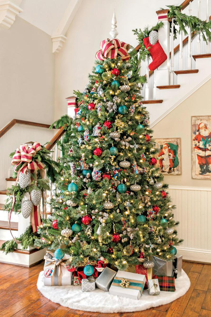 Christmas Decorated Living Rooms 80s: Southern Decorated Christmas Trees
