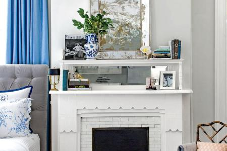 50 Small Space Decorating Tricks   Southern Living Extend Your Mantel  In a small space
