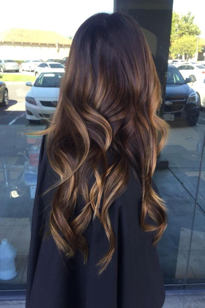 Cute Long Straight Hair Ombre Hairstyle