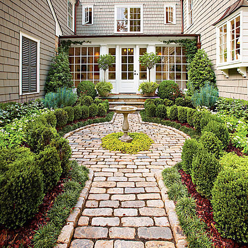 Landscaping with Boxwoods - Southern Living on Cottage Yard Ideas id=86965