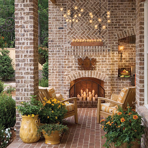 Glowing Outdoor Fireplace Ideas - Southern Living on Southern Outdoor Living id=93257