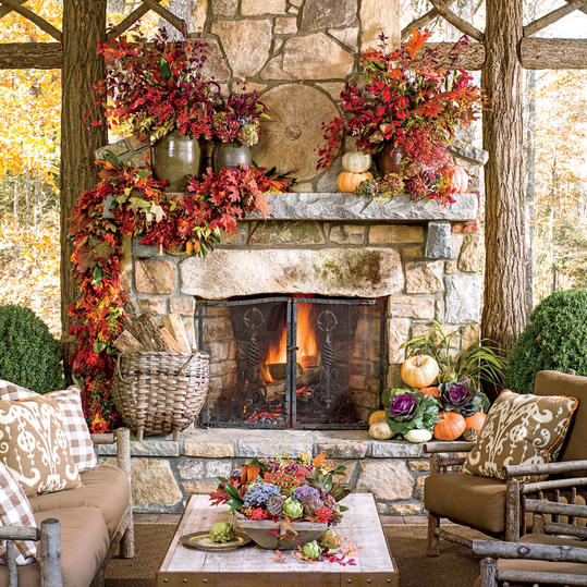 Glowing Outdoor Fireplace Ideas - Southern Living on Outdoor Fireplaces Ideas  id=60750