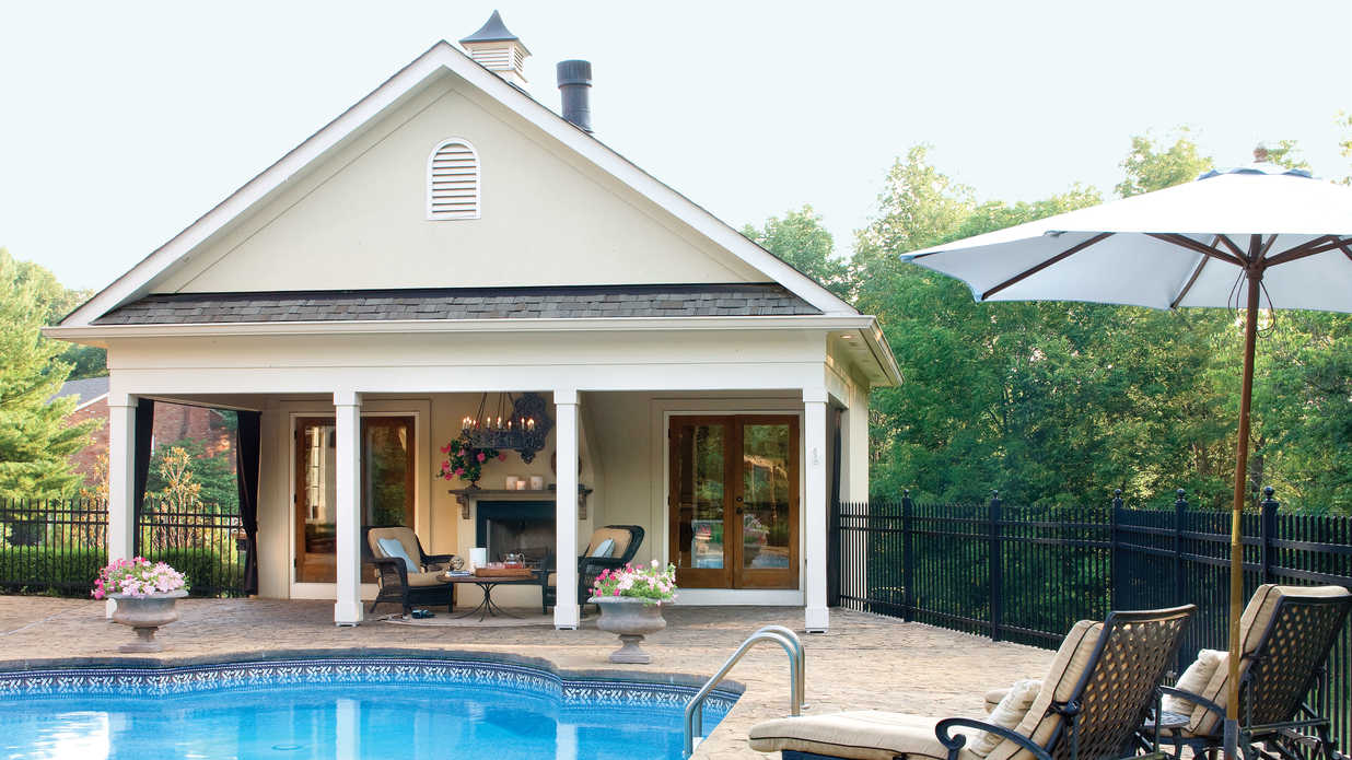 Year-Round Pool House - Sparkling Pools - Southern Living on Southern Pools And Outdoor Living id=17337