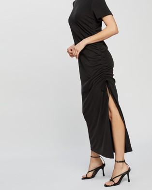 Third Form - Lure In Maxi Tee Dress - Dresses (Black) Lure In Maxi Tee Dress