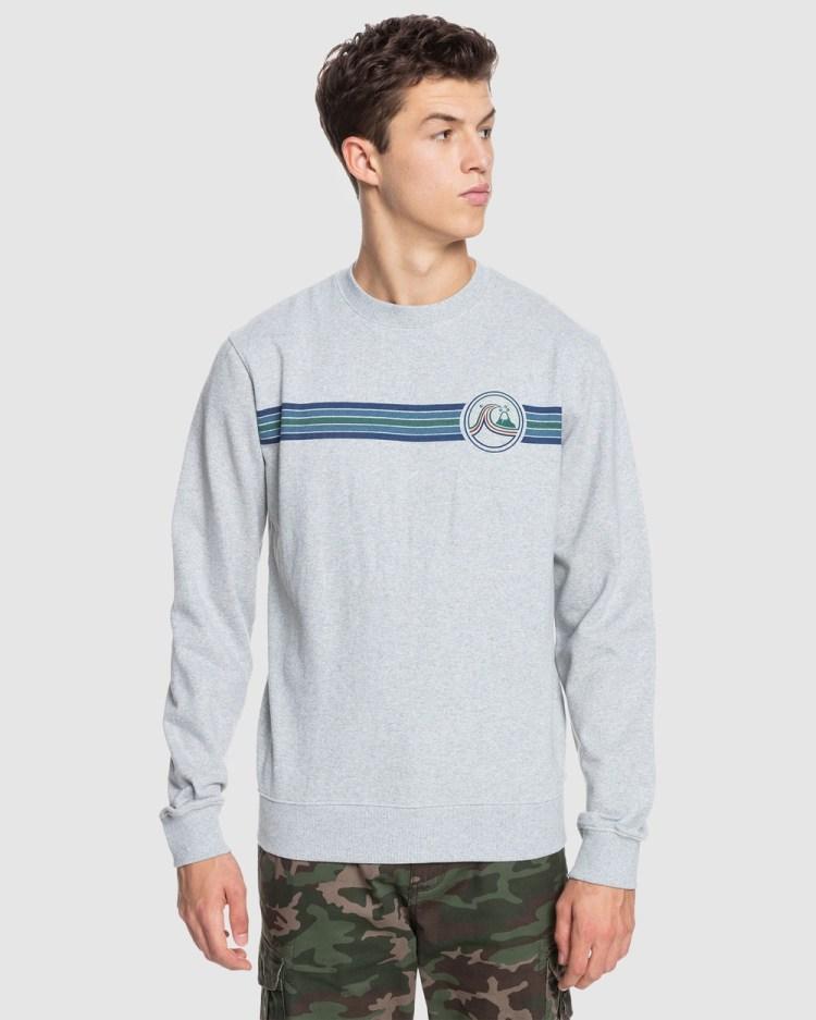 Quiksilver Mens Secret Menu Sweatshirt Sweats Light Grey Heather