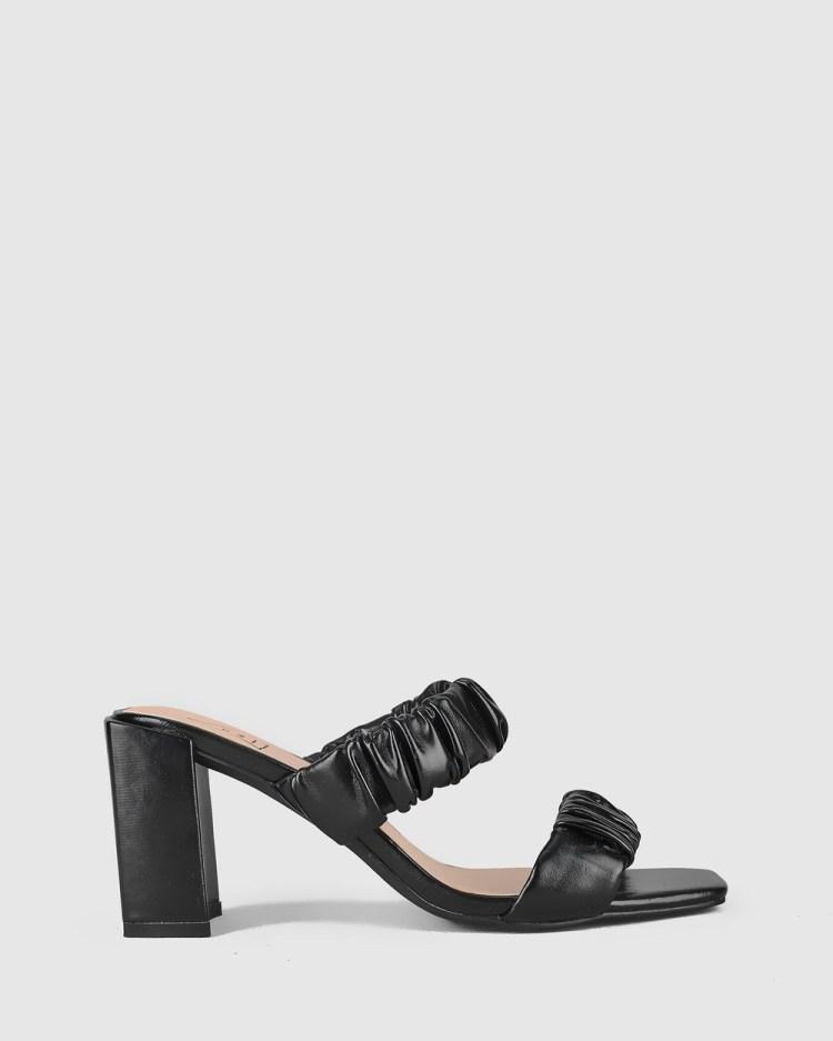 St Sana Peyton Mules Heels Black