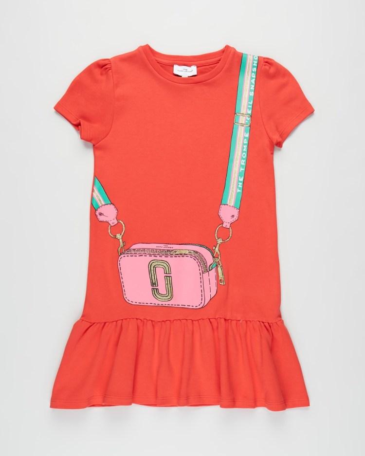 The Marc Jacobs Dress Kids Teens Printed Dresses Bright Red Kids-Teens