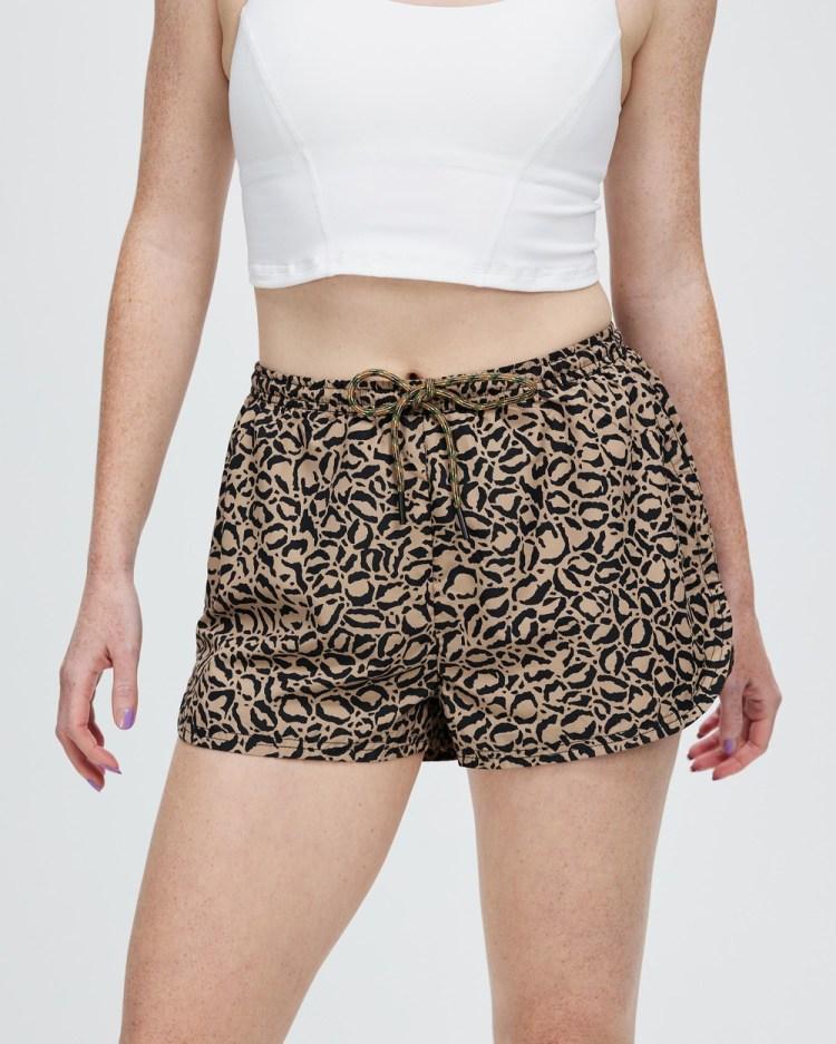 The Upside Leopard Efrem Shorts Leopard