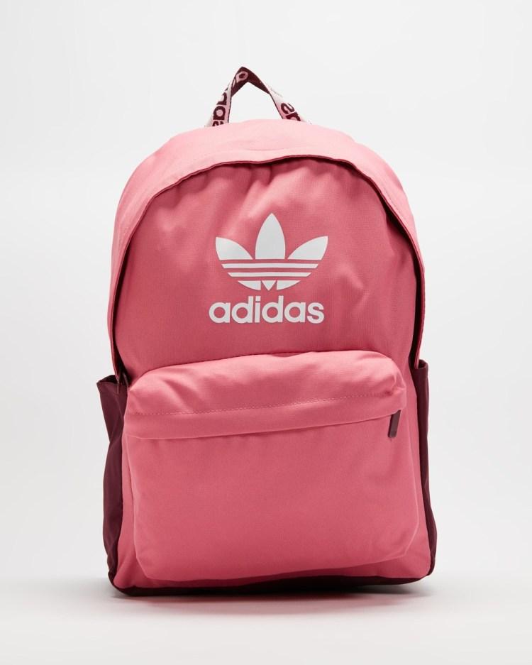 adidas Originals Adicolor Backpack Backpacks Rose Tone, Victory Crimson & White
