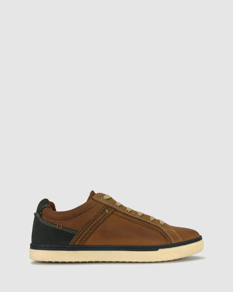 Airflex Joey Leather Sneakers Lifestyle Tan