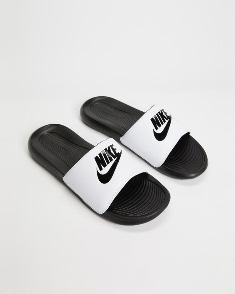 Nike Victori One Slides Men's Black, Black & White