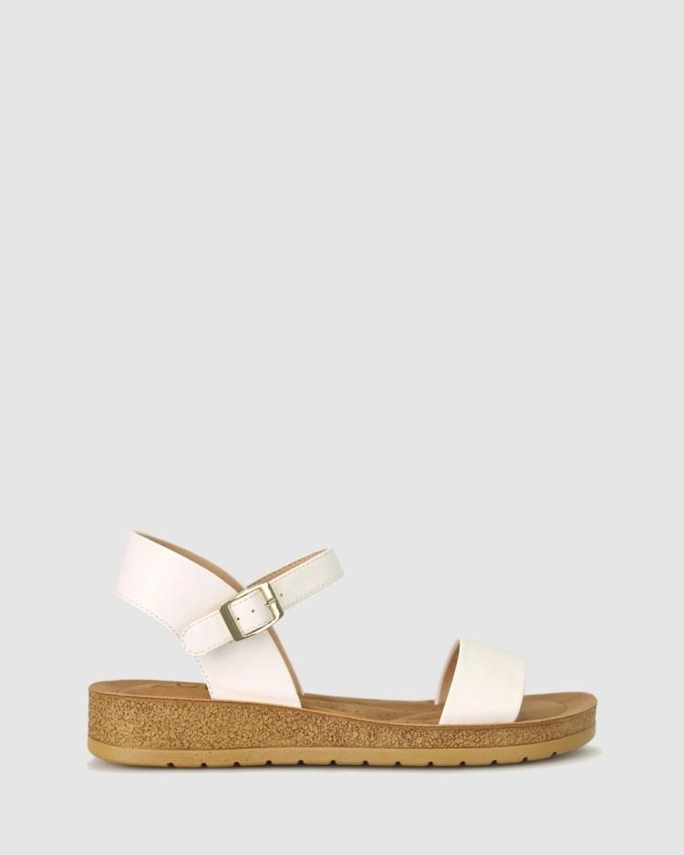 Zeroe Ramble Comfort Sandals White