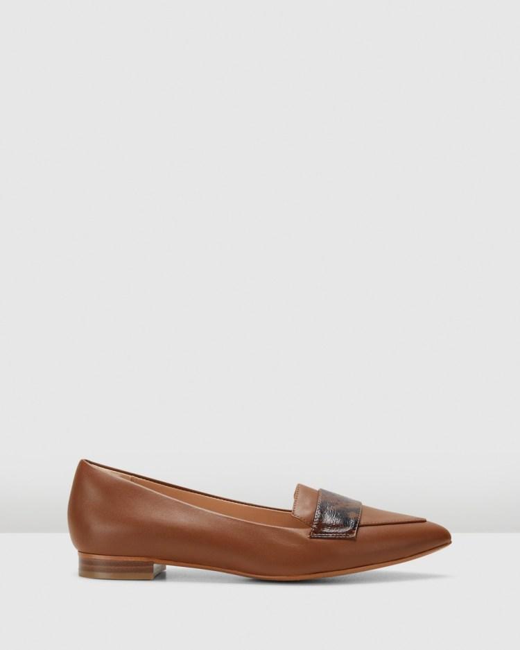Clarks Laina15 Loafer2 Dress Shoes Dark Tan Leather