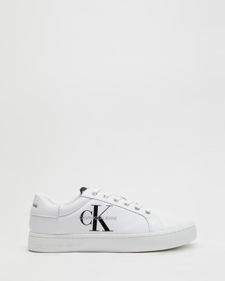 Calvin Klein Jeans Cupsole Lace Up Sneakers Bright White
