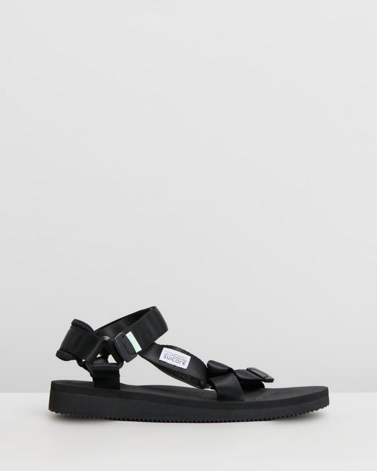 Suicoke Depa Unisex Casual Shoes Black