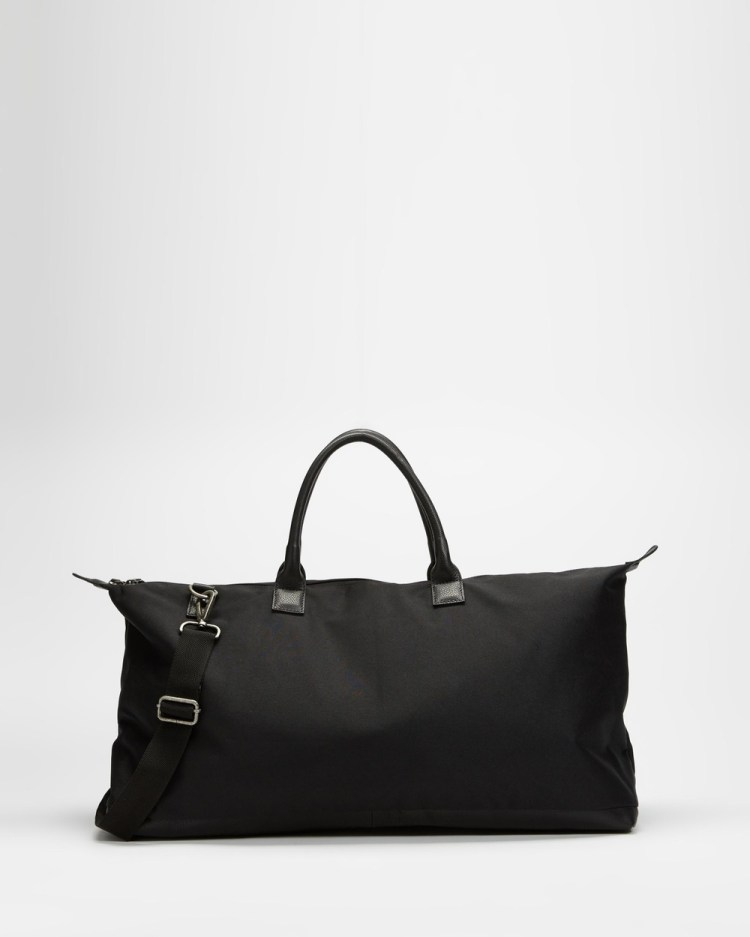 AERE Recycled Polyester Holdall Bags Black