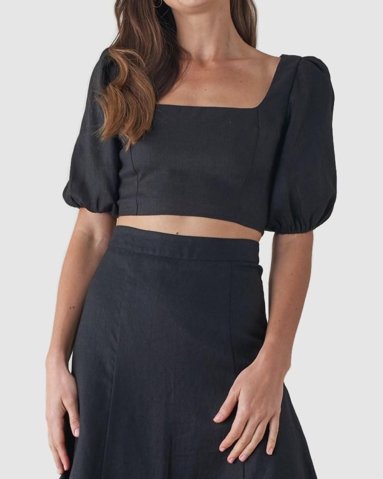 Amelius Violetta Crop Top Cropped tops Black