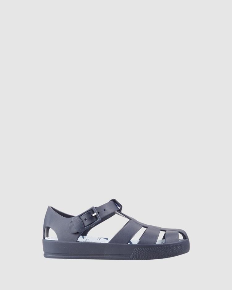Kicks Kiddo Shark Jellies Sandals Navy