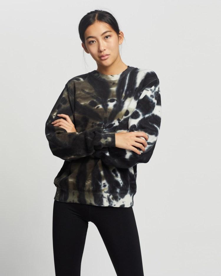 Running Bare Legacy Crew Neck Sweater Sweats Major Tie-Dye