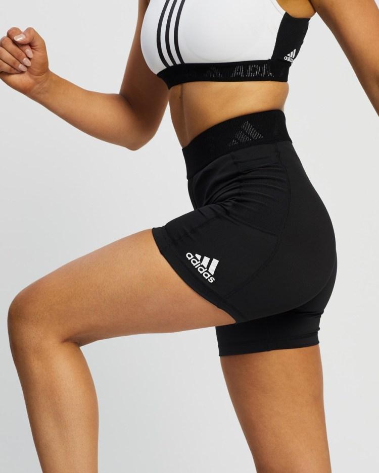 adidas Performance Techfit Badge Of Sport Short Tights 1/2 Black & White