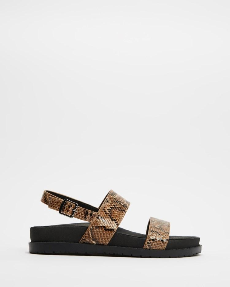 ROC Boots Australia Toga Sandals Tan Snake