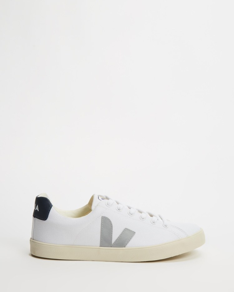 Veja Esplar Vegan Unisex Sneakers White Oxford & Grey Nautico