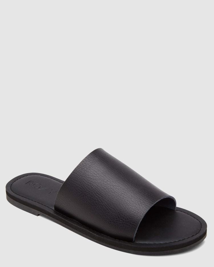Roxy Womens Kaia Slides Sandals Armor/Black