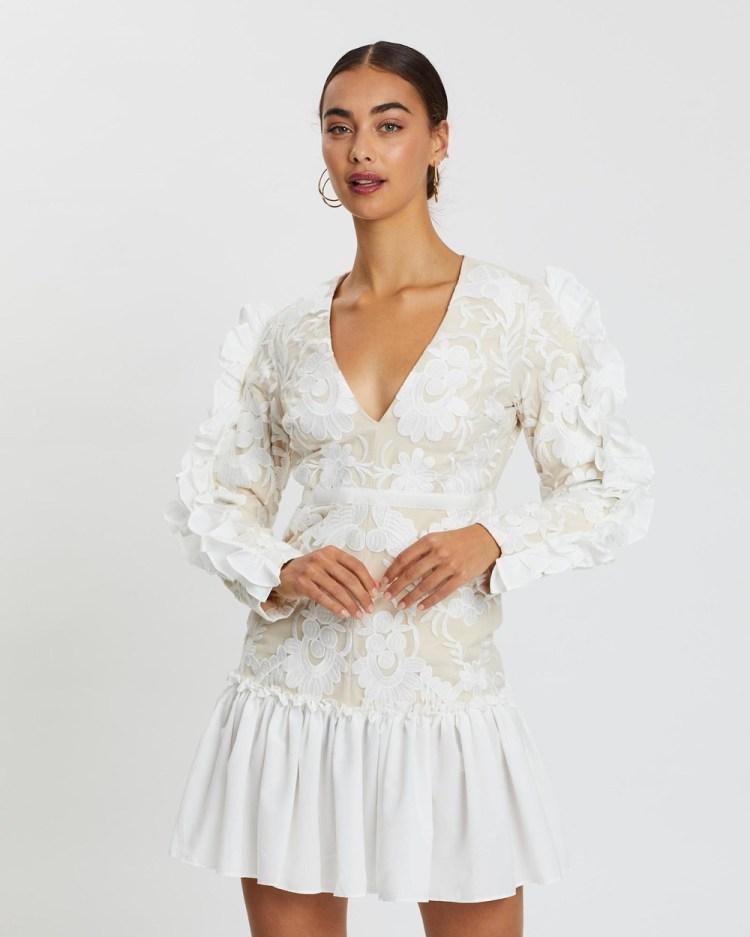 Loreta Italian Lace Dress Dresses White