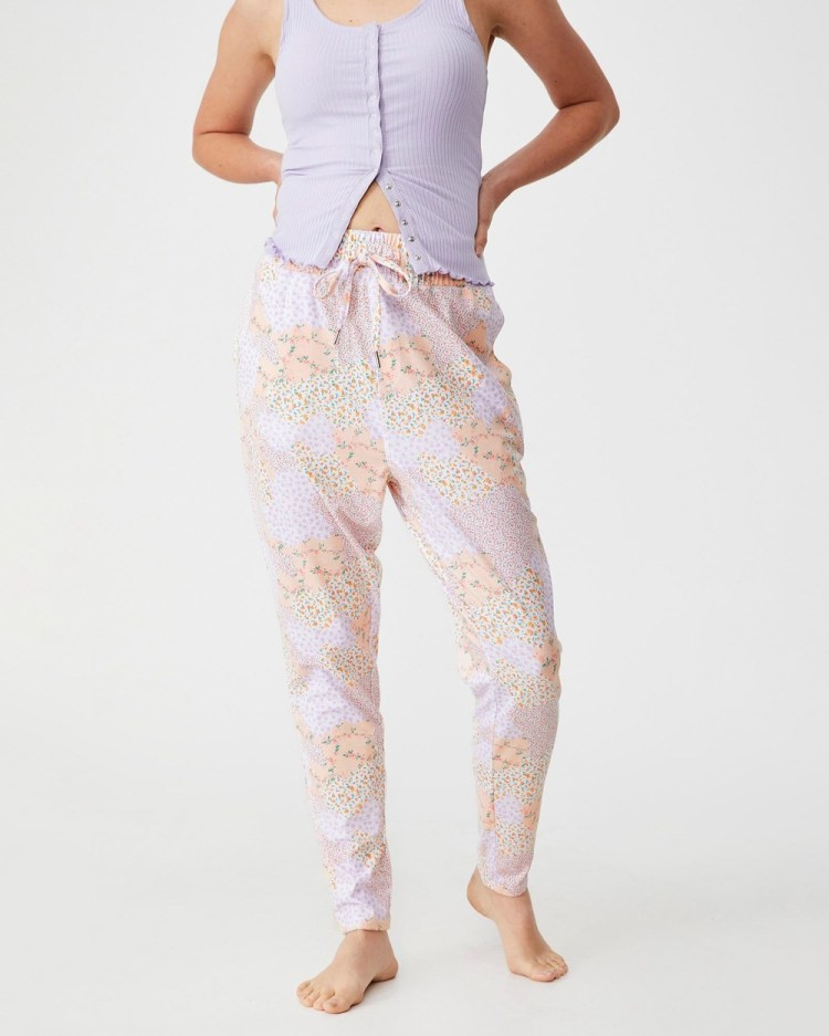 Cotton On Body The Lounge Pants Joggers Ditsy Patchwork
