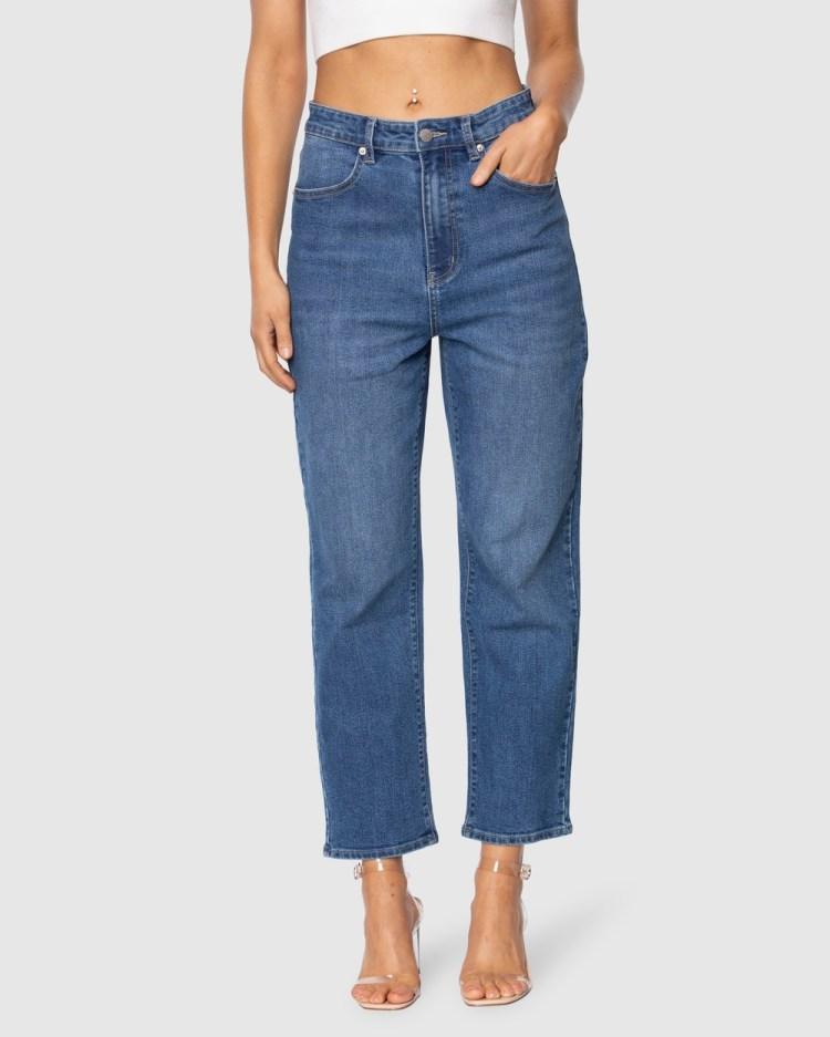 Pilgrim Marley Straight Leg Jean Jeans Blue