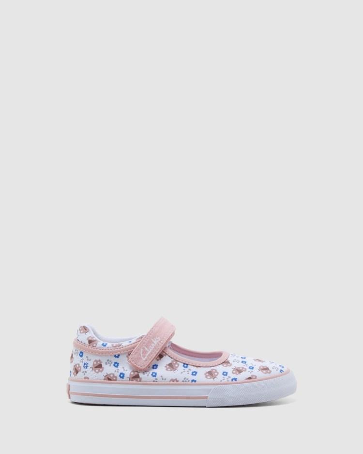 Clarks Lizzie Sneakers White/Musk Ladybug