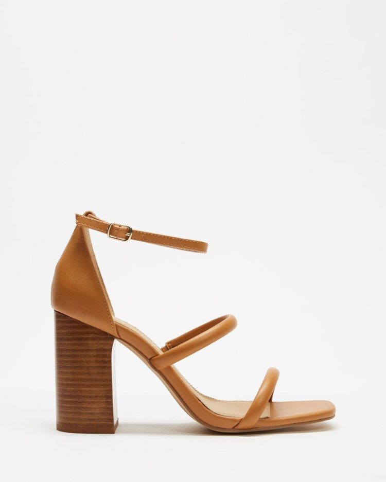 SPURR Rory Heels Tan Smooth